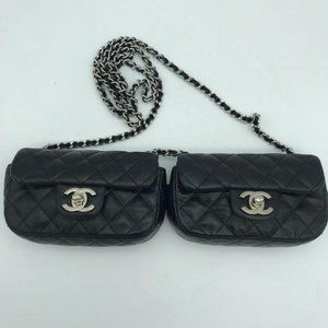 Chanel Lambskin Quilted Double Mini Flap Crossbody